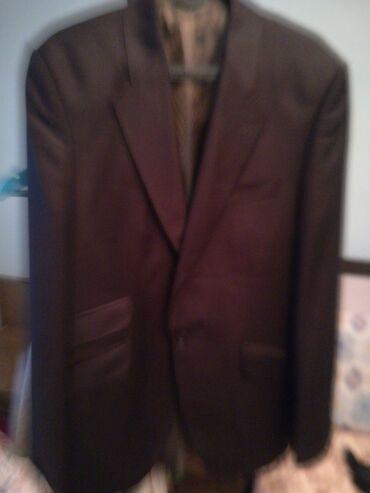 Костюм пиджак с брюками, коричневый цвет, красивый, турецкий из