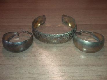 юг 2 бишкек в Кыргызстан: Ручная работа! Продаю комплект украшений: серьги и браслет под золото