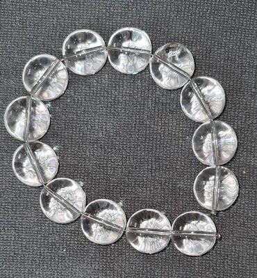 люстры для зала бишкек цены в Кыргызстан: Бусины из камня, Горный хрусталь гретый ( для лучшей прозрачности)