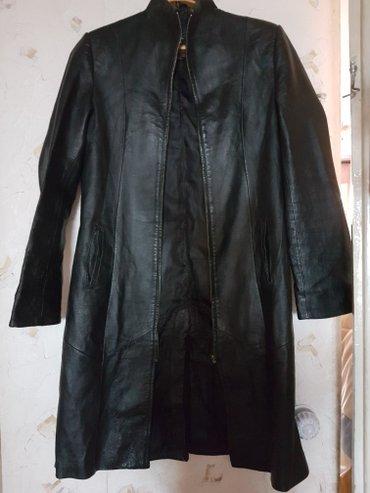 Продам кожаный плащ в хорошем состоянии. Размер 44-48. Писать в whatsa в Бишкек