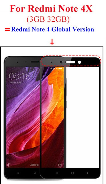 Bakı şəhərində Xiaomi Redmi Note 4X üçün Ekran Qoruyucu