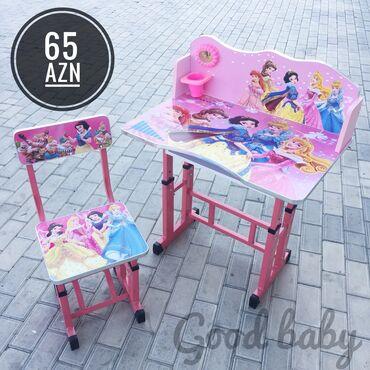 barbie kuklalari - Azərbaycan: Barbie parta Mdf və dəmir materialQız və oğlan modelleri var70x43sm
