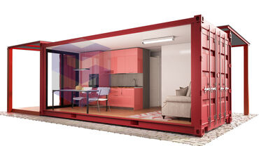 Оборудую контейнер под магазин-потолки, полы, и стены - делаю современ