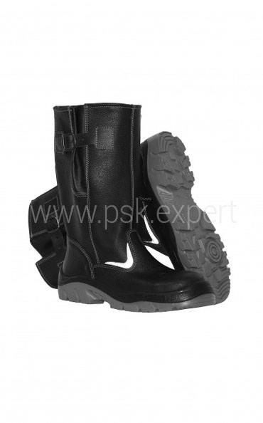 сапоги мужские в Кыргызстан: Сапоги Комфорт кожаные с металлическим подноском (рабочая обувь)