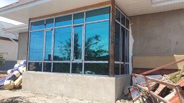 старые окна и двери в Кыргызстан: Изготавливаю алюминиевые окна двери изготавливаю офисные перегородки а