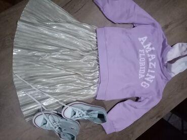Dečija odeća i obuća - Nova Pazova: Suknja Zara kids vel 8, duks Zara kids vel 8 starke original converse
