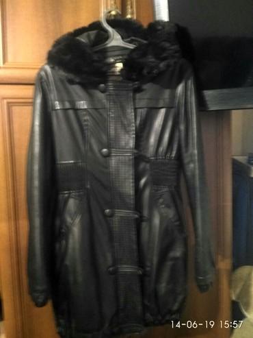 дубленка кожа в Кыргызстан: Кож куртка в хорошем состоянии с капюшоном размер 50 цена 700 сом