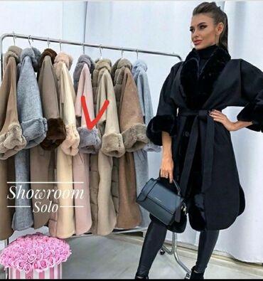 Пальто - Размер: M - Бишкек: Новое теплое пальто с мехом!Мех пушистый и мягкий,под кролик. Цвет