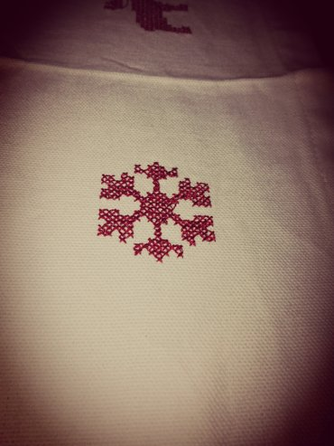 Embroidered snowflakes and reindeers.  Christmas theme σε Ανατολική Θεσσαλονίκη