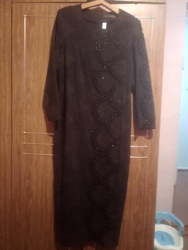 вечернее зеленое платье в Кыргызстан: Новое вечернее платье 54 размер чёрно-темно зелёное