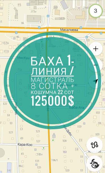 uslugi avtovyshki 22 metra в Кыргызстан: Продам 8 соток Для бизнеса
