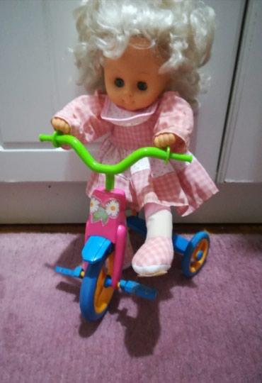 Lutka na biciklu extra kvalitet uvoz Grčka očuvano - Batajnica