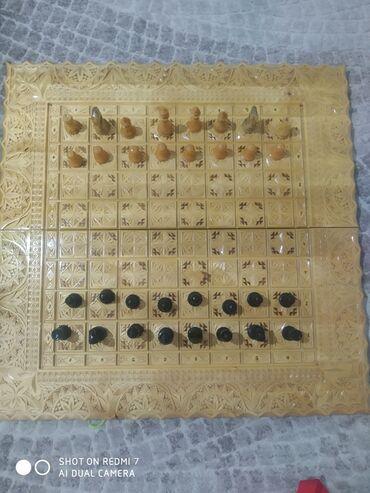 Шахматы - Кыргызстан: Шахматы нарды из дерева