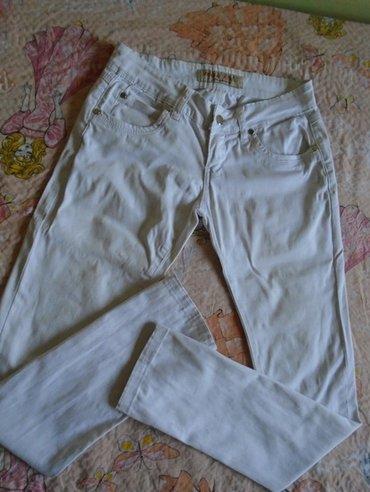 Tamnije bele pantalone Miss rose, veličine 26, od 95% pamuka i 5% - Belgrade