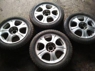 шины 205 55 r16 в Кыргызстан: Продаю шины с дисками, продаются только комплектом и только с дисками