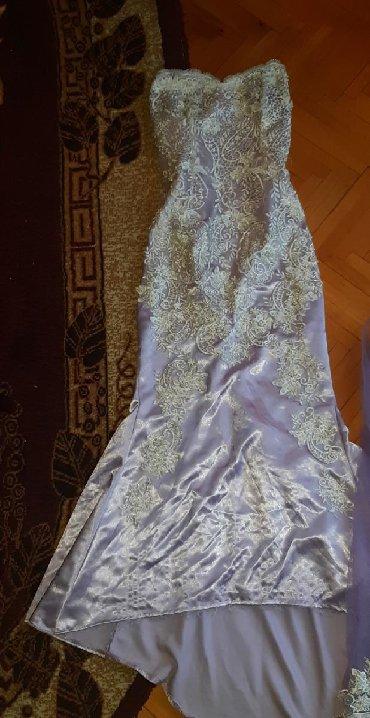 Majica-svecana - Srbija: Svecana haljina sa plastom i maramicim M L