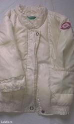 Snezno-bela - Srbija: Beneton jaknica za bebe. Italijanski brend, vel. 68. Bela, nezna, za