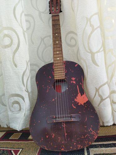 гитары бишкек in Кыргызстан | ГИТАРЫ: Антиквариатная гитара фирмы ProelЖелезные струныГриф классического