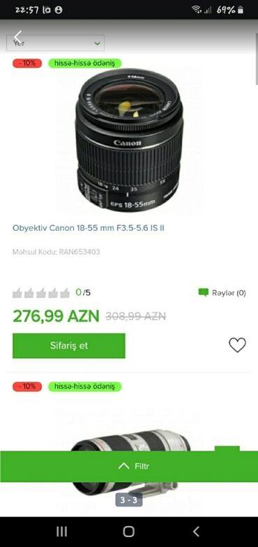 Obyektivlər və filtrləri - Azərbaycan: Tek wexsiyyet vesiqesiyle kridit verilir zaminsiz arayiwsiz kirayede