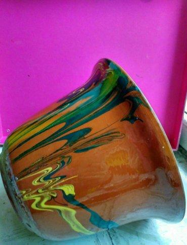 Цветочные горшки, глиняные с глазурью. Высота 20 см, диаметр 20 см в Бишкек