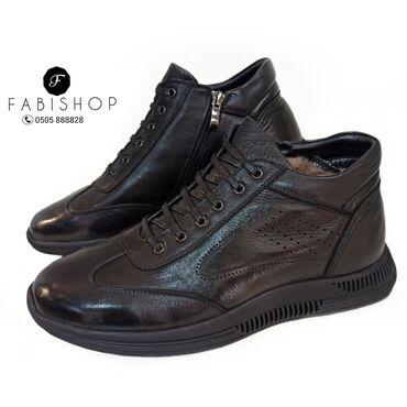Кожаные зимние ботинки. Натуральный мех