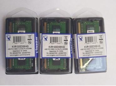 amd 4 gb - Azərbaycan: DDR3 4 GB notebok ramlarinin 6ay zemanetle satisiOrijinal Kingston
