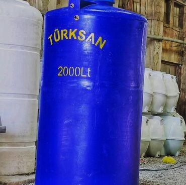 Türksan şirkətinin poleitilendən hazırlanmış su çəni. 2 Tonluq dik
