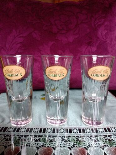 Čaše za piće - Srbija: Case nove,visoko dno za zestoko pice,puno