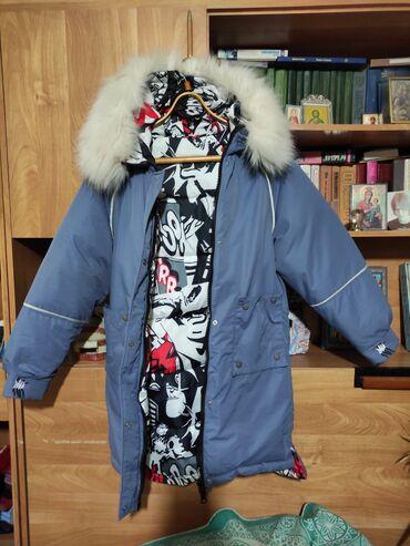 Зимняя куртка двусторонняя, практически новая - надевалась 1 раз