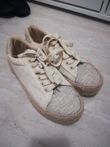 Ženska patike i atletske cipele | Loznica: Letnje patike, krem boje, broj 39, kao nove