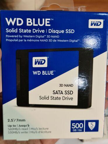 диски резина в Азербайджан: Wd blue 500gb ssd.Mehsul tam olaraq yeni ver orijinaldir.Icinde