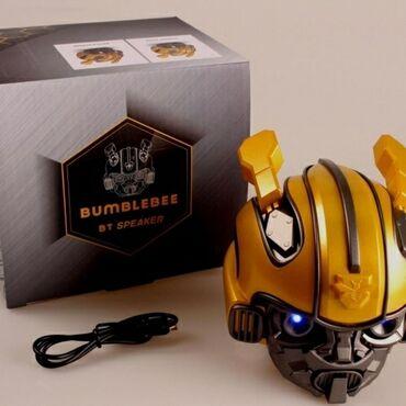 g динамики в Кыргызстан: Беспроводная Bluetooth колонка Bumblebee Transformers со светящимися