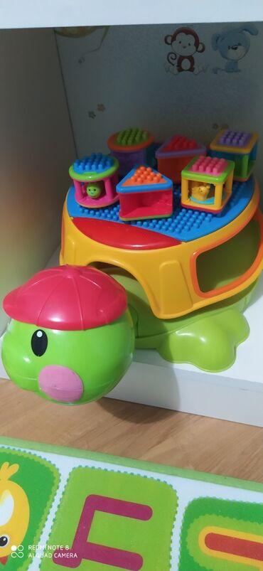 мелкий ремонт мебели в Азербайджан: Fisher price.Большая музыкальная черепаха-сортер с кубиками Fisher