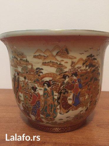 Ručno oslikana porcelanska kineska žardinjera - Beograd