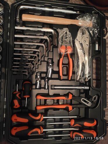 инструменты в Кыргызстан: Набор инструментов sata новый 129 предметов есть все что нужно для дом