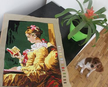 Gobleni - Beograd: GOBLEN : ČITATELJKA (`A young girl reading`) -radjen po delu