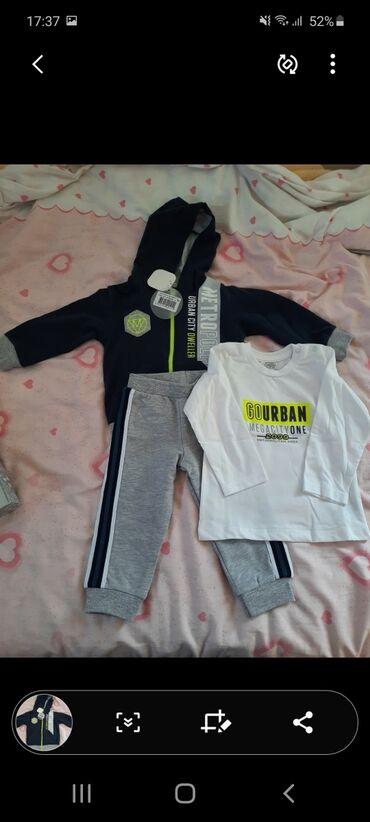 Paket odeće - Nova Varos: Trodelni komplet za bebe velicina 80, u kutiji, novo sa etiketom. Set