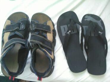 Muške sandale i papuče baš očuvane,pogotovo papuče kao nove.Za oba