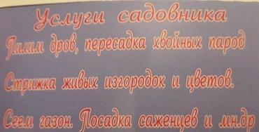 Услуги садовника в Бишкек