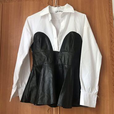 Возможен торг. Рубашка с эко-кожейСостояние - НОВОЕРазмер - S (44)В