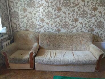 staryj divan sovetskij в Кыргызстан: Диван и кресло. Торг уместен самовывоз