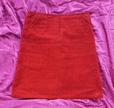 Pozadi-slic-dug-cm - Srbija: Somot suknja, vel. 38/40. Postavljena. Pozadi mali slic, sa strane