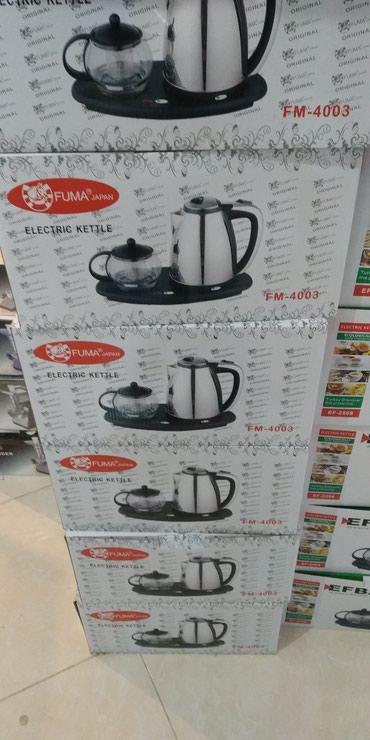 Xırdalan şəhərində Elektrik çaydan dəsti Fuma,təzədi,anbardan satış,çatdırılma var.