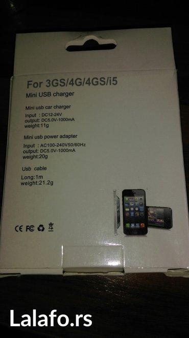 Kucni+auto punjac za iphone 3gs, 4g, 4gs, 5
