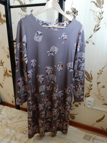 Меланжевое платья, размер L (46-48). Очень в Бишкек