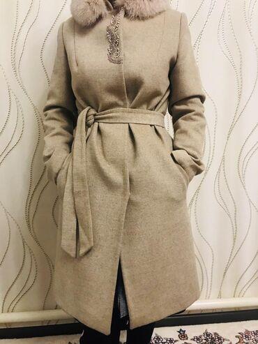 Продаю Пальто кашемир,производство Турция,мех песец съёмный