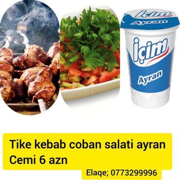 Tike kabab coban salati ve ayran cemi 6 azn