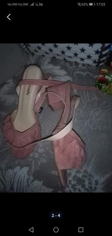 Ženska obuća | Sombor: Sandale nove nikad obuvene velur, 37 piše al su manje