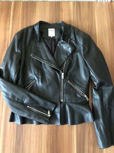 Куртка под кожу, Zara, размер л, с маской, есть дефект, зацепки, 15