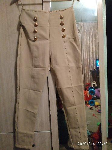 Женские брюки в Ак-Джол: Брюки шикарные,модные,на высокой посадке, состояние новой,размерM